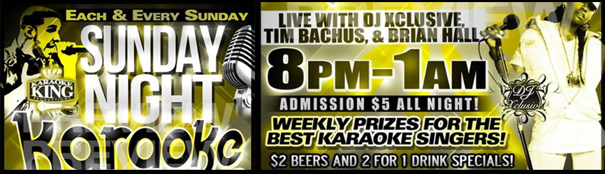 Sunday Funday: Karaoke & Dance Party at Zodiac Lounge