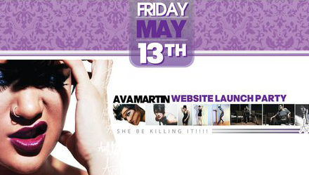 Model Ava Martin Hosts Website Launch Party May 13, 2011
