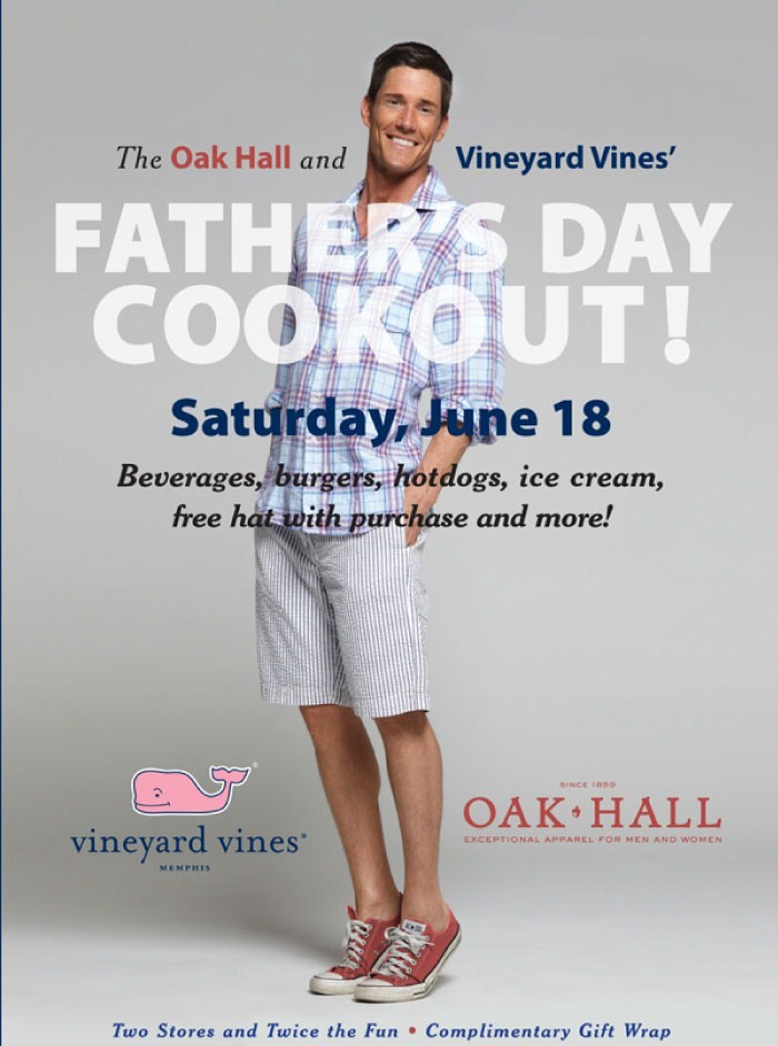 Oak hall amp vineyard vines host father s day cookout 6 18 11 ndncrowd