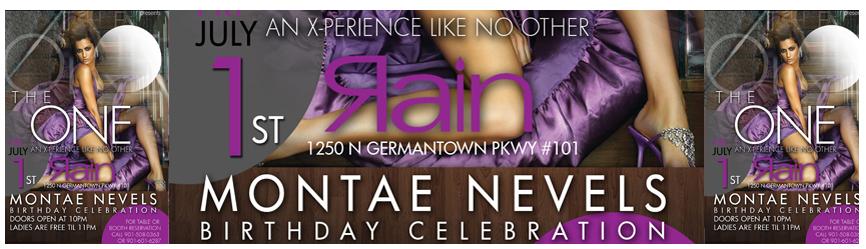 """The One"" Montae Nevels Birthday Edition 07.01.2011 @ Rain Sushi Bar"
