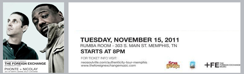 Neosoulville presents: The Foreign Exchange at the Rumba Room | 11.15.11