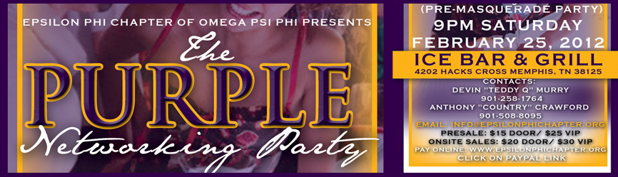 The Purple Networking Party 2012 (Pre-MasQUErade Ball Party)