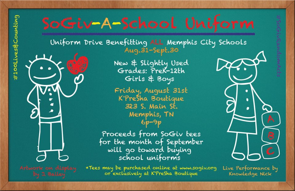 SoGiv-A-School Uniform Drive 8.31.12
