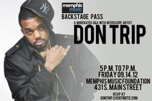 Backstage Pass with Don Trip 9.14.12