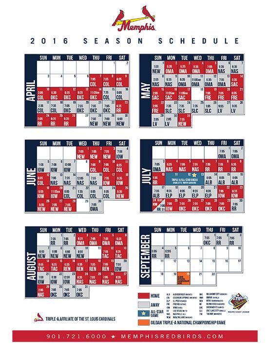 2016-Memphis-Redbirds-Schedule