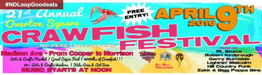 Overton Square Crawfish Festival 4/9